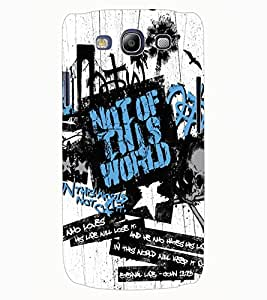 ColourCraft Typography Design Back Case Cover for SAMSUNG GALAXY S3 NEO I9300I
