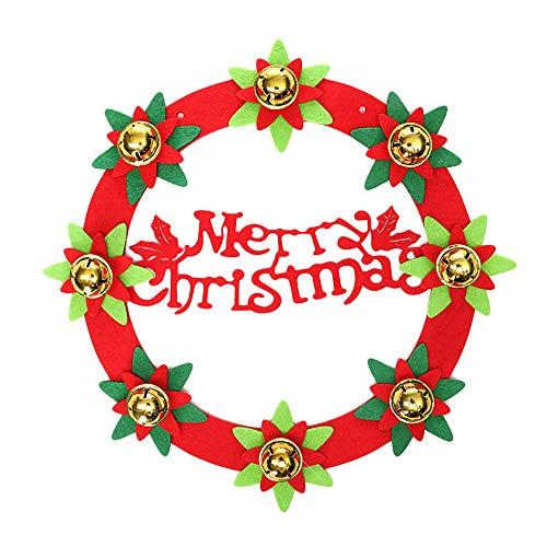 ration Garland Wandaufkleber Fensteraufkleber Türaufkleber Hauptdekoration Dekoration Weihnachten Rentier Anhänger(Merry Christmas,33x33cm) ()