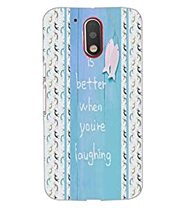 Printdhaba Quote D-3410 Back Case Cover For Motorola Moto G4