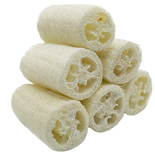 'Nature–6Pack Luffa Exfoliante Loofah Spa mejor Depurador Loofah Body Wash Esponja Eliminar Dead Skin Multi Función de jabón (aprox. 4)