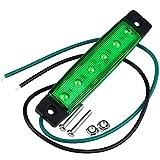Illuminazione a LED 3Watts 200~300lm Indicatore di marcatore Anteriore Lato Verde per Camion 6 LED DC 12V 2PCS TONGDAUR