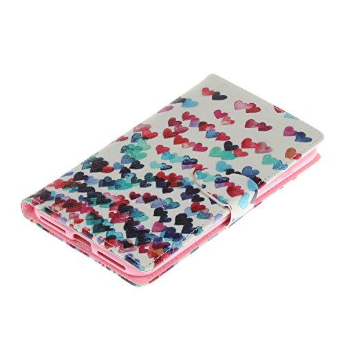 Voguecase Pour Apple iPhone 7 Plus 5,5 Coque, Étui en cuir synthétique chic avec fonction support pratique pour iPhone 7 Plus 5,5 (arbre rouge)de Gratuit stylet l'écran aléatoire universelle coeurs colorés