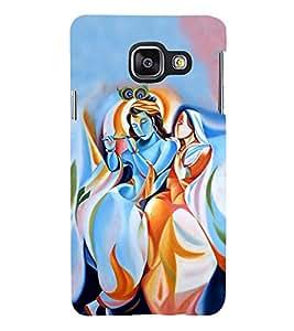 Fiobs Designer Back Case Cover for Samsung Galaxy A5 (6) 2016 :: Samsung Galaxy A5 2016 Duos :: Samsung Galaxy A5 2016 A510F A510M A510Fd A5100 A510Y :: Samsung Galaxy A5 A510 2016 Edition (Radha Krishna Hindu God)