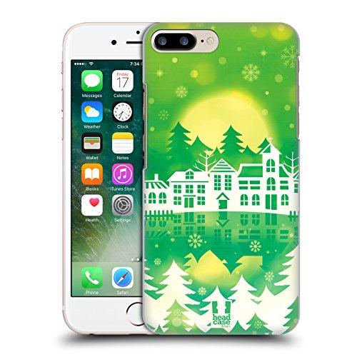 Head Case Designs Vacanza Porpora Città Invernali Cover Retro Rigida per Apple iPhone 7 Plus / 8 Plus Vacanza Verde