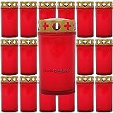 20candele Tomba ricambio candele Grab luci giorni Brenner Grab lampade Set, Plastica, Rot, 20 pezzi