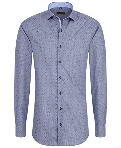 ETERNA Herren Slim Fit Langarmhemd blau Blau