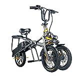 ABYYLH Vélo Électrique Pliant Homme/Femme Adult Pliable E-Bike Portable Tricycle