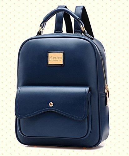Molly Donne Stile Di Gusto Squisito Solido Colori Dello Zaino Blu