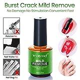 15ML Removedor de Esmalte de uñas, Bloodfin Esmaltes de Uñas Gel UV LED Removedores Soak Off Manicura,Eliminación de Pegamento Manicure Nail Remover Uñas Líquido de eliminación (B)
