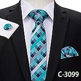 LUHELDM 6cm Schlanke Krawatte Feste Seide Gewebt Rot Blau Einfarbig Krawatte Manschettenknöpfe Set Herren Party Hochzeit Schmale Dünne KrawatteC-3099