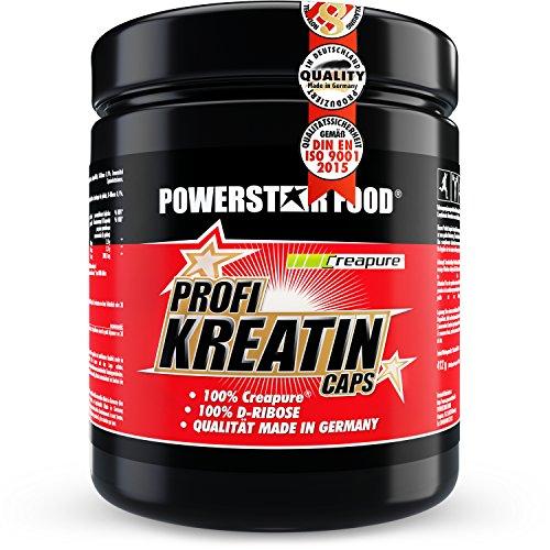 Kreatin Monohydrat hochdosiert - 500 Kapseln - 100% reinstes CREAPURE plus D-Ribose für direkte Kraftsteigerung, mehr Maximalkraft, erhöhtes Muskelwachstum & mehr Ausdauer - Made in Germany