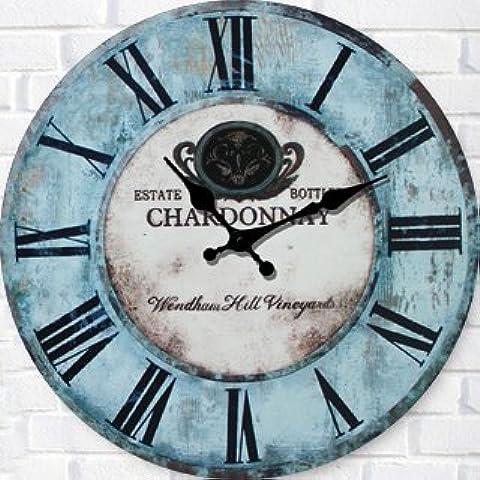 CLG-FLY moderna creativa silenciar el reloj de pared Reloj de pared de madera decorativa simple reloj, reloj de moda