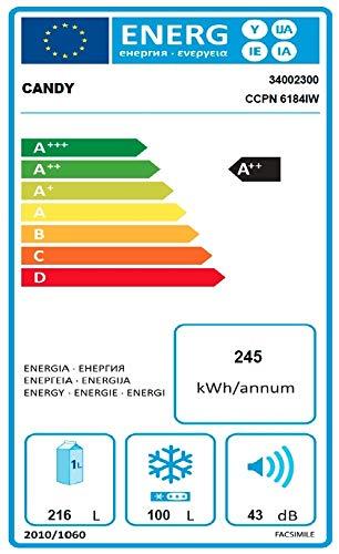 Candy ccpn 6184iw autonome 316L A + + weiß-réfrigérateurs-congélateurs (autonome, weiß, rechts, LED, Glas, 316L)