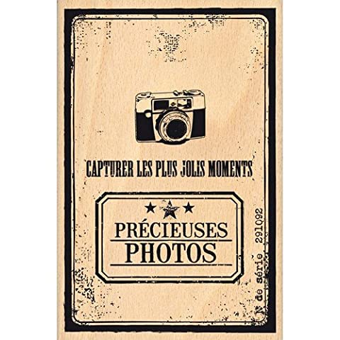 Florilèges Design FHA115015 - Timbro per scrapbooking, fantasia: copertina album, 15 x 10 x 2,5 cm, colore: beige [lingua francese]