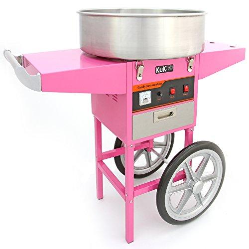 KUKOO - Máquina de Algodón de Azúcar con Carrito