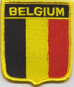 Bandiera patch ricamato Belgio (Belgio Flag Patch)