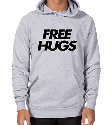 Free hugs - Funny and Stylish Unisex Hoodie! Get ready for fall! Grey