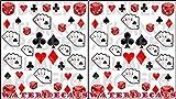 AWS Set da 2 foglietti Poker d'Assi Water decals unghie nail art Adesivi Semi Carte fiori cuori picche quadri Asso stickers Dadi transfer decorazione trasferibili ad acqua Aces Dices decorations 2 sheets