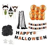 TK Gruppe Timo Klingler Halloween Deko Grusel Dekoration Set mit über 30 Teilen