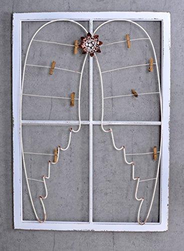 Wandboard Shabby Chic Engelsflügel Vintage Memoboard Weiss Fenster Palazzo Exclusiv (Vintage Fenster)