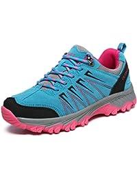 Dexuntong Unisex Adulto zapatillas de trekking Zapatos de viaje Antideslizante Zapatos de escalada zapatillas de montaña Para Hombre Mujer36-45