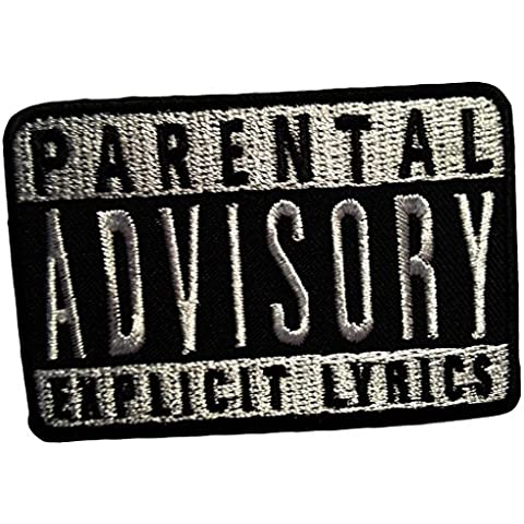 Parental Advisory Explicit Lyrics Music Patch '7.7 x 5.3 cm' - Parche Parches Termoadhesivos Parche Bordado Parches Bordados Parches Para La Ropa Parches La Ropa Termoadhesivo Apliques Iron on Patch Iron-On