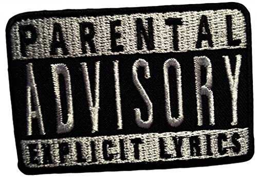 Parental Advisory Explicit Lyrics Musica Patch '7.7 x 5.3 cm' - Toppa Patches Toppa Toppa Termoadesiva Toppa Termoadesiva Per Stoffa