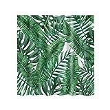 MagiDeal Duschvorhang, wasserdichter Duschvorhang, Extra lange, aus Polyester - Grünes Blatt, 180x180cm