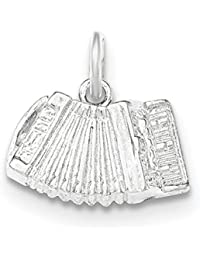 Sterling Silver Polished and Textured Accordion Pendant