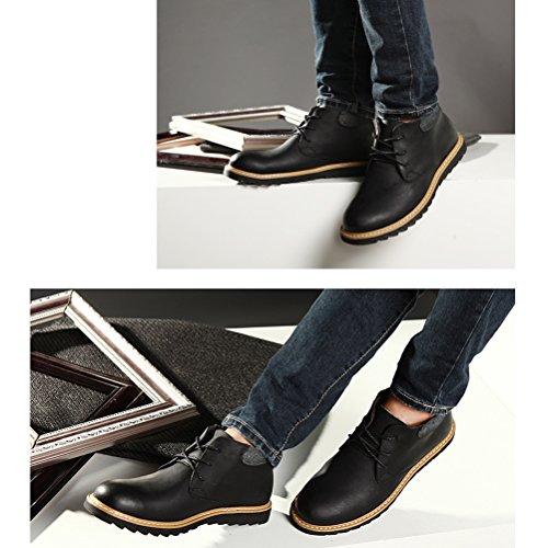 Vogstyle Herren Montacute Boots Kurzschaft Stiefel Schnürhalbschuhe Art 2-Schwarz