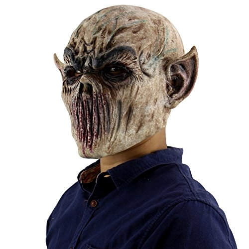 Forart Gruselige Scary Halloween Cosplay Kostüm Maske für Erwachsene Party Dekoration Requisiten Bloody Zombie Fork Monster Maske