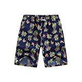 LSCOFFEE Men's Surf Pants Beach Hot Pants Fast-drying Men's Color Shorts Swimming Beach