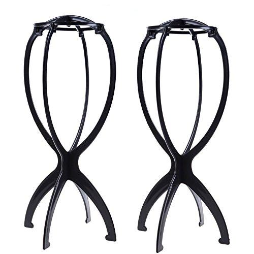 2 pcs en plastique pliable Perruque cheveux Chapeau support support Outil d'affichage Perruque Linge