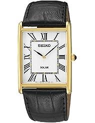 Seiko Herren-Armbanduhr Analog Quarz Leder SUP880P1