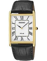 Seiko Unisex-Armbanduhr Solar Unisex Analog Quarz Leder SUP880P1