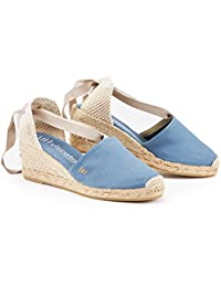 "VISCATA Escala 2.5"" Heel, Soft Ankle-Tie, Closed Toe, Classic Espadrilles Heel Made in Spain"