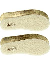 RBJ leather shoes Lot de 2 Semelles intérieures pour Chaussures en Laine de Mouton. 100% Laine de Mouton Naturelle.