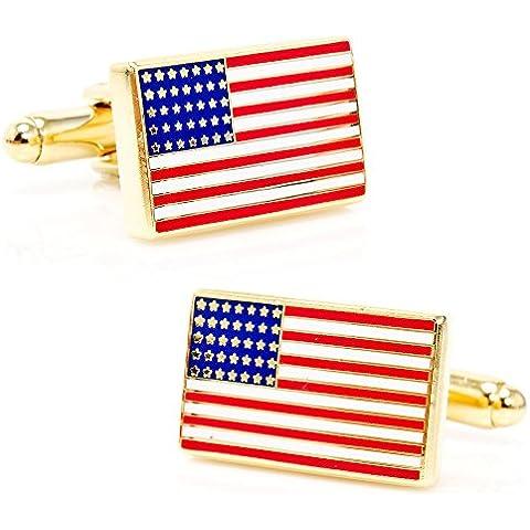 American Flag Gemelli Oro - Novità American Flag