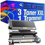 PlatinumSerie® 3x Toner & Trommel XXL Schwarz kompatibel für Brother TN-3170 & DR3100 DCP-8060 DCP-8065DN HL-5200