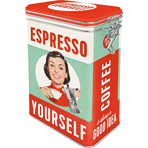 Say it 50's - Espresso Yourself | Retro Aromadose| Blech-Dose | Kaffee-Dose | Aromadeckel | Metall ()