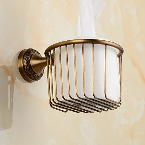 CNBBGJ Kupfer Antik European-Style Bad WC-Papier Halter Papier Handtuch Korb WC Toilettenpapier rack-schnitzen (Korb Schnitzen)