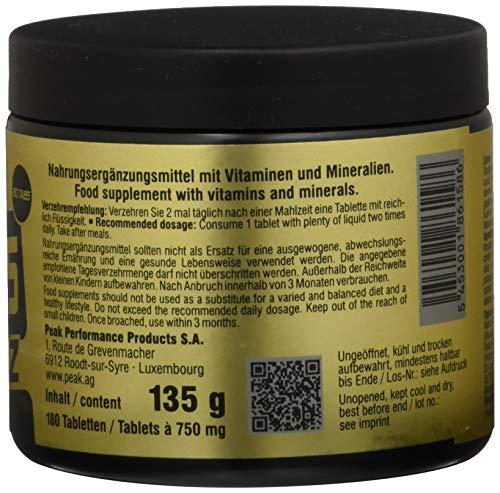 Peak VITAMINS A-Z – 180 Tabs á 750 mg – Net wt. 135g - 4