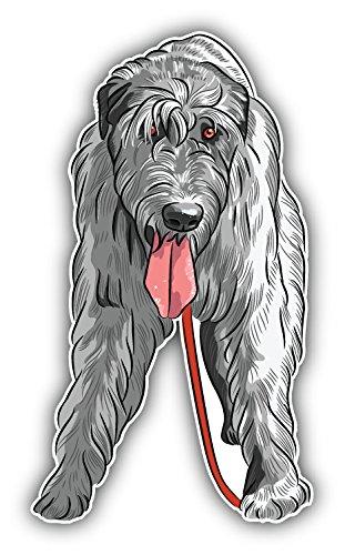 Irish Wolfhound Dog Auto-Dekor-Vinylaufkleber 8 X 12 cm -