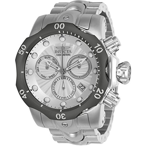 INVICTA MEN'S VENOM STEEL BRACELET & CASE SWISS QUARTZ ANALOG WATCH 23890