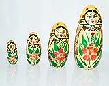MNC Channapatna 5 Layer Wooden Toys Matryoshka Doll Kids Gift Russian Nesting Dolls Baby Toy Girl Doll