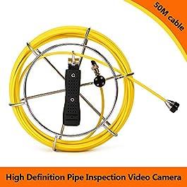 Lixada 20M / 30M / 50M Câble de Remplacement pour caméra d'inspection de tuyaux