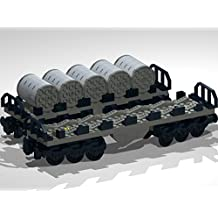 12-Wheel Flat Bed Wagons with Metal Coils: Lego MOC building instructions (English Edition)