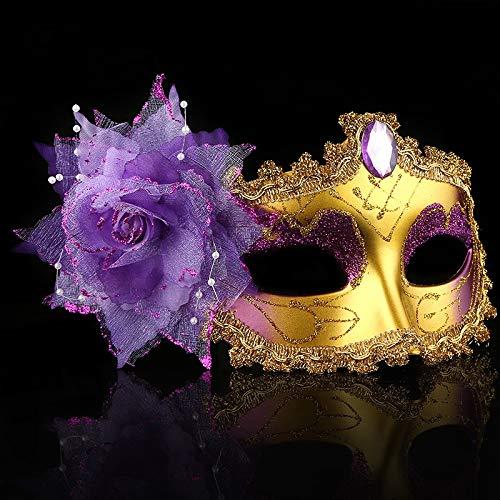 Mask- Halloween Maske Weibliche Maskerade Erwachsene Half Face Sexy Weiße Prinzessin Maske Gesichts Kind Männlich (Farbe : H)