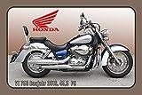 Schatzmix Honda VT 750 2016 45.5PS Motorrad, Motor Bike, Motorcycle blechschild