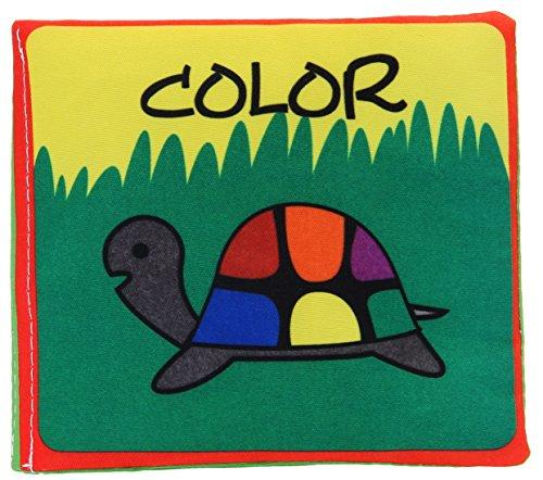 La vogue Juguetes Libros de Tela para Bebes Aprendizaje 40*9cm (Color)
